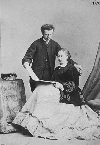 John Russell, Viscount Amberley - Albumen print of Lord and Lady Amberley made by William Notman in Montreal in 1867 and currently owned by McCord Museum
