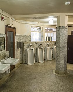 Toilet Room in a historic Vista House, Oregon, USA