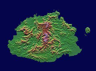 Viti Levu - Topography of Viti Levu island.