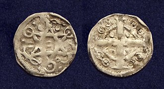 Baldwin I, Latin Emperor - County of Flanders, AR maille or 'petit denier', struck in Ypres under Baldwin IX, Count of Flanders