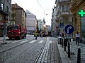 Vodičkova, rekonstrukce tramvajové trati, u Palackého ulice.jpg