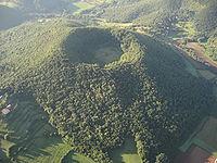 Vista aèria del volcà de Santa Margarida