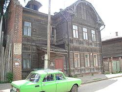 Wooden apartment in Central Kazan