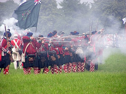 Historical re-enactment of the Battle of Warburg fought on 31 July 1760 Vorderlader.jpg