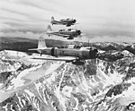 Vought SB2U-1 Vindicators of VB-3 in flight over the Sierra Nevada range on 11 July 1938.jpg