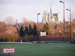 Vista general d'Amiens amb la catedral