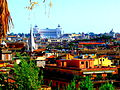 Vue sur Rome depuis les bords du parc Borghese.JPG