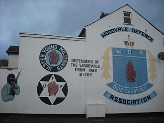 Woodvale Defence Association - WDA mural on Disraeli Street, February 2012
