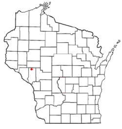 Location of Strum, Wisconsin