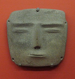 Mezcala culture - Mezcala stone mask at the Los Angeles County Museum of Art