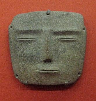 Mezcala culture - Mezcala stone mask at the Los Angeles County Museum of Art