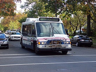 Metrobus (Washington, D.C.) - An Orion II 3714 serving route N8