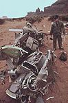 WRECKAGE OF AN ARMY HELICOPTER ASSIGNED TO CLEAN-UP OF THE SAN JUAN RIVER OIL SPILL - NARA - 545685.jpg