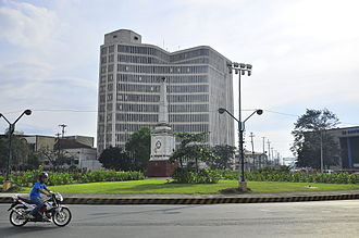 Port Area, Manila - Anda Circle and the Bureau of Internal Revenue building in the background in the Port Area.