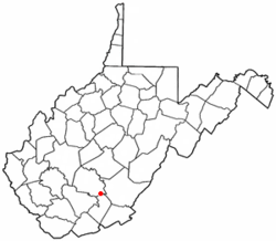 Location of Meadowbridge, West Virginia