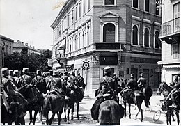 WWI - Sixth Battle of the Isonzo - 9th August 1916 Italian cavalry enters Gorizia.jpg