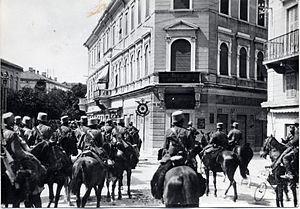 Sixth Battle of the Isonzo - 9th August 1916 Italian cavalry enters Gorizia