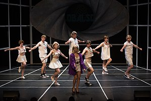 "We Will Rock You (musical) - The cast of Magnus Theatre's North American Regional Theatre Premiere production of We Will Rock You performs ""Radio Gaga.""  Photo by Matthew Goertz."