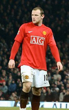 Rooney con la maglia del Manchester United nel 2008