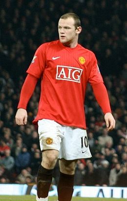 De Rooney am Dress vu Manchester United