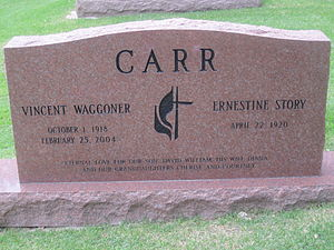 Waggoner Carr - Waggoner Carr tombstone at Texas State Cemetery in Austin, Texas
