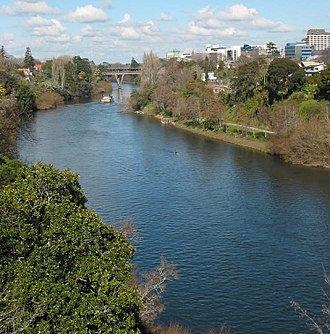 Waikato River - Waikato River passing through Hamilton