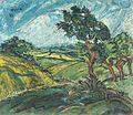 Waldemar Flaig Landschaft mit vier Bäumen 1921.jpg