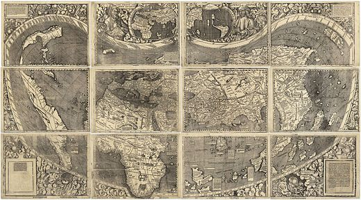 Waldseemuller map with joint sheets, 1507 Waldseemuller map 2.jpg