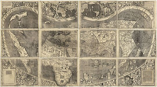 World map from 1507