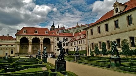 Wallenstein Palace, the first Baroque palace in Central Europe.