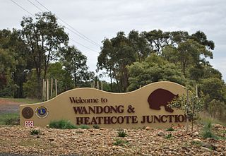 Wandong Town in Victoria, Australia