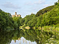 Warkworth Castle, River view.jpg