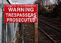 Warning sign, Adelaide halt - geograph.org.uk - 1722363.jpg