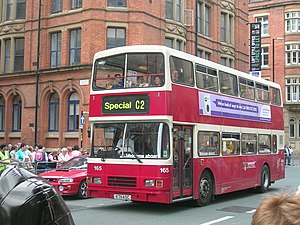 Network Warrington - Alexander RL bodied Leyland Olympian in Manchester in August 2008
