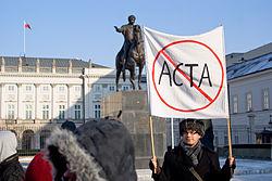 Warszawa, Pałac Prezydencki, protest ACTA 01.jpg