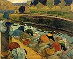 Washerwomen at the Roubine du Roi Arles 1888 Paul Gauguin.jpg