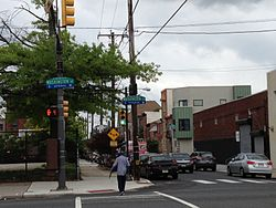 South Philadelphia, looking south from Southwest Center City into Newbold at Washington Avenue.