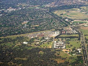Watson, Australian Capital Territory - Aerial view of Watson from north east