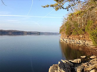 Watts Bar Lake - View from just north of TVA Watts Bar in Decatur, Tennessee