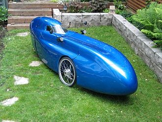 Energy efficiency in transport - Velomobile, an example of an energy efficient mean of passenger transport.