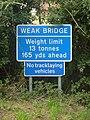Weak bridge warning sign - geograph.org.uk - 1424455.jpg