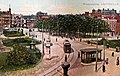 Weesperplein met tram ~1905 (ansichtkaart, kleur).jpg