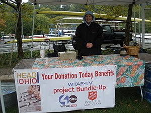 WTAE-TV - WTAE-TV and the Salvation Army collecting funds for Project Bundle Up at the 2011 Head of the Ohio regatta.