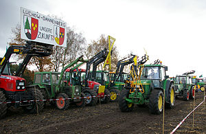 English: Farmer's demonstration against transp...