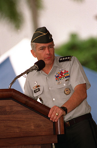 Clark assumed command of USSOUTHCOM in June 1996. Wesley Clark USSOUTHCOM.JPEG