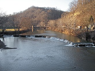 Worthington, West Virginia - The West Fork River in Worthington in 2006