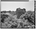 West side, looking east. - Hill Road Pueblito, Carrizo Canyon, Dulce, Rio Arriba County, NM HABS NM,20-DUL.V,6-5.tif