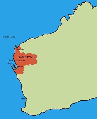 Gascoyne - Location of Gascoyne in Western Australia