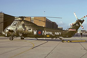 707 Naval Air Squadron - A Westland Wessex HU.5 of 707 NAS at RNAS Yeovilton during 1974