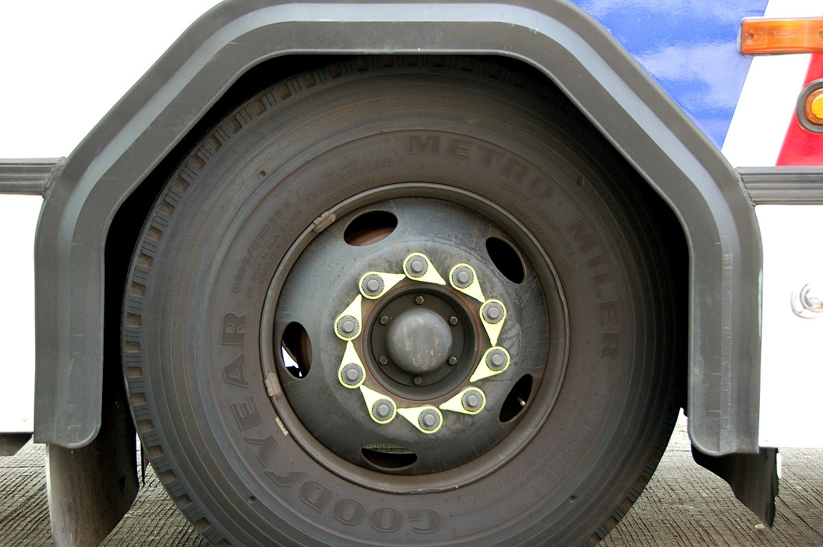 Pictures Of Nuts And Bolts >> Loose wheel nut indicator - Wikipedia